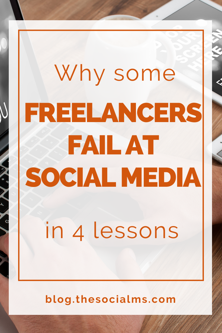 Freelancers need to use social media in a different way than brands. But there are huge advantages for freelancers in social media. If you use them right, social media can be awesome for freelancers and solopreneurs #entrepreneurship #solopreneur #startupmarketing #freelancer #freelancermarketing #blogging101 #smallbusinessmarketing
