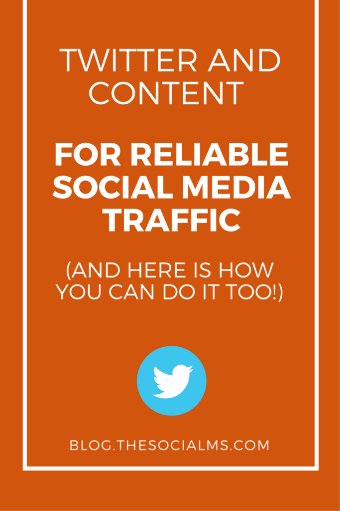 Twitter and content (curated or original content) are at the heart of every single reliable social media traffic generation strategy I have ever seen.