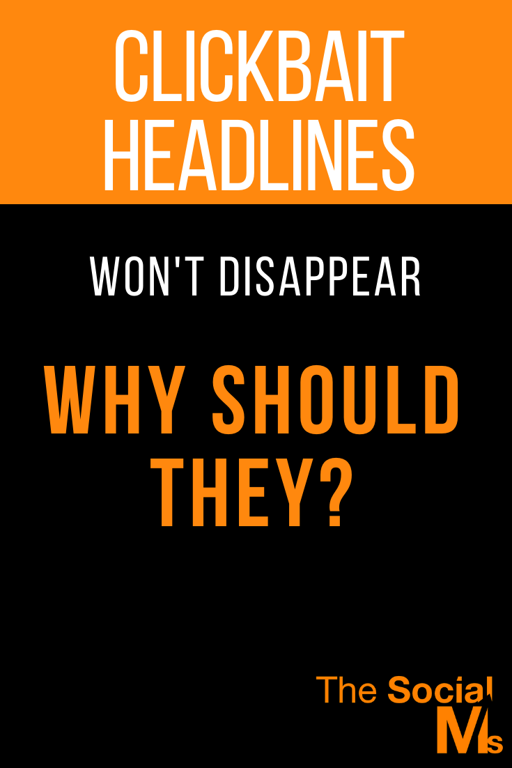 "Clickbait is an optimization strategy, not a crime that should be punished. It's not ""cheating"" and it will always exist. #headlines #contentcreation #blogpostcreation #blogwriting #bloggingtips #blogging101"