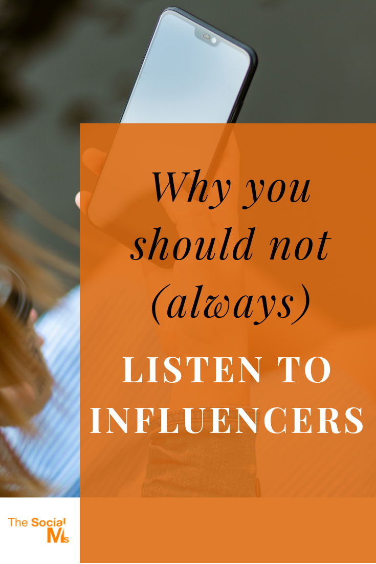 The clue to learning from others is to identify those who actually give valid advice. Here is why you should not always listen to influencers. #socialmedia #digitalmarketing #marketingstrategy