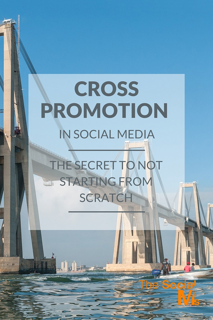 Cross promotion should be part of any social media strategy - from setting up your first account, getting your first followers, to multiple accounts ...
