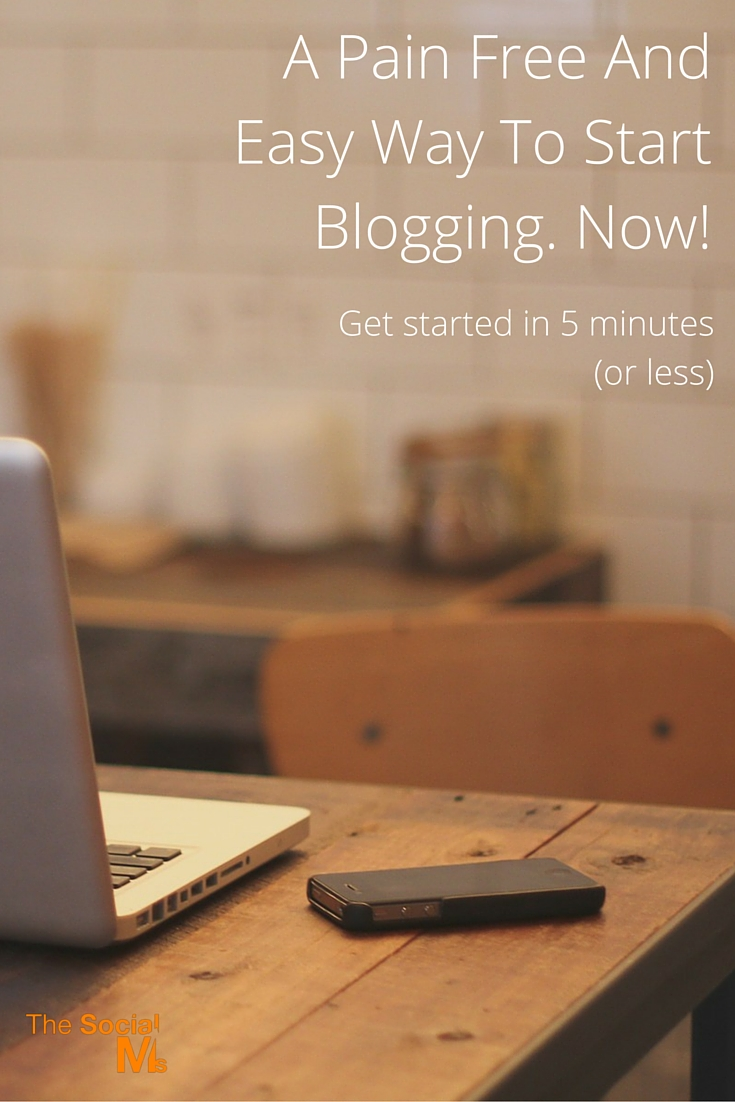 Start Blogging. Now!