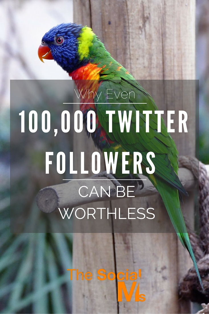 Having 20,000 Twitter followers might be good for bragging at university – but they are worth near to nothing in the real world if they are so off target.