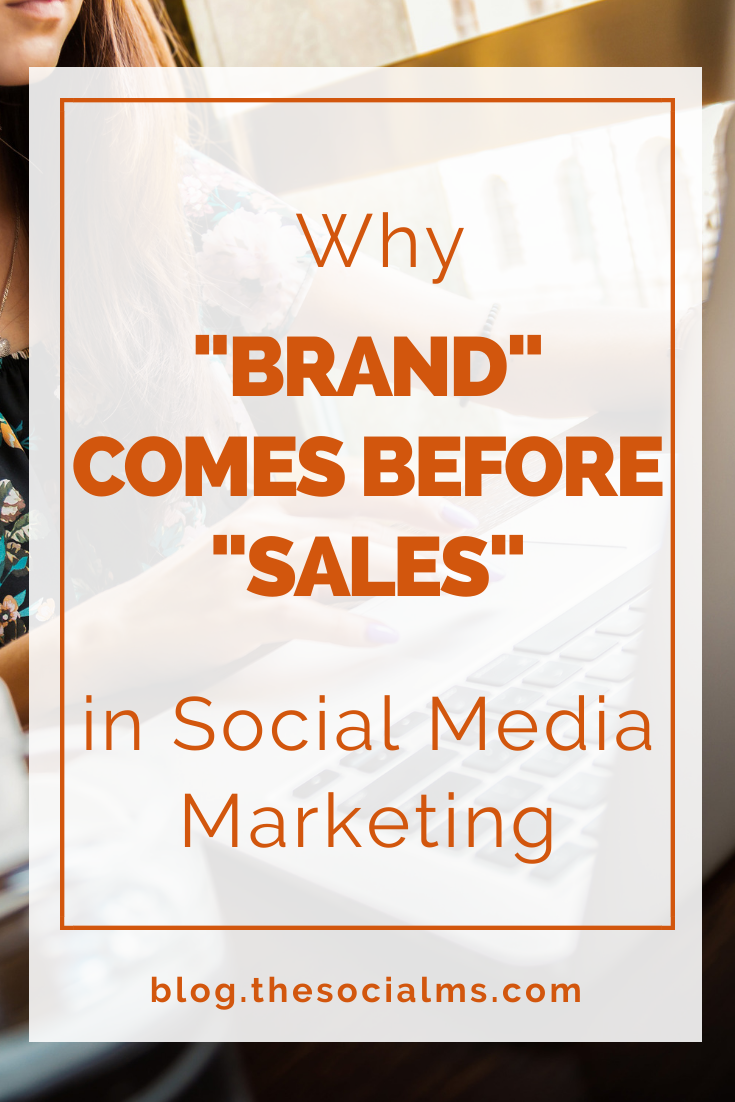 Selling in social media does not necessarily smell and taste like selling, and most of the time it does not work, if it is not combined with something else: Branding, reputation, personality – and trust. #branding #socialmediatips #socialmediamarketing #socialmedia #salesfunnel #onlinebusiness #makemoneyblogging #bloggingformoney