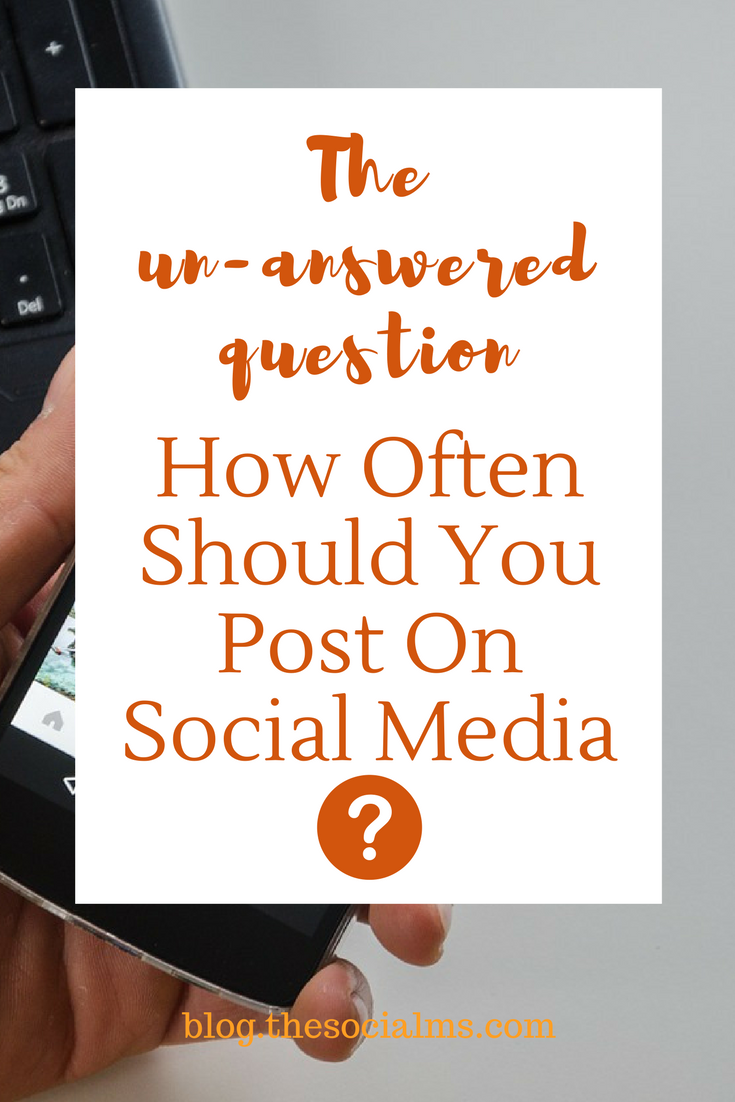 There is no general answer to the question how often to post on social media, what is right for one person can be totally wrong for another. social media tips, how to use social media