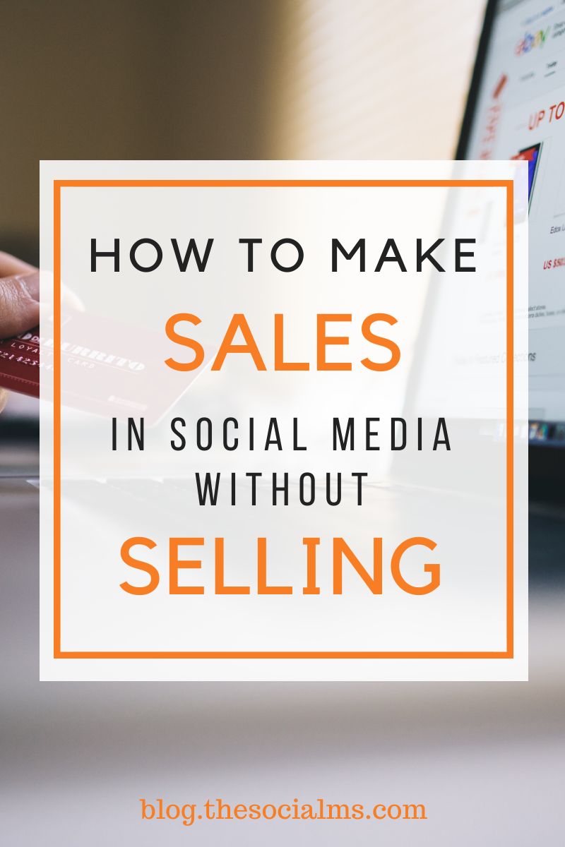 Selling in social media does not necessarily smell and taste like selling, and most of the time it does not work, if it is not combined with something else: Branding, reputation, personality – and trust. #socialmedia #salesfunnel #makemoneyblogging #smallbusinessmarketing #onlinebusiness #branding #bloggingoformoney