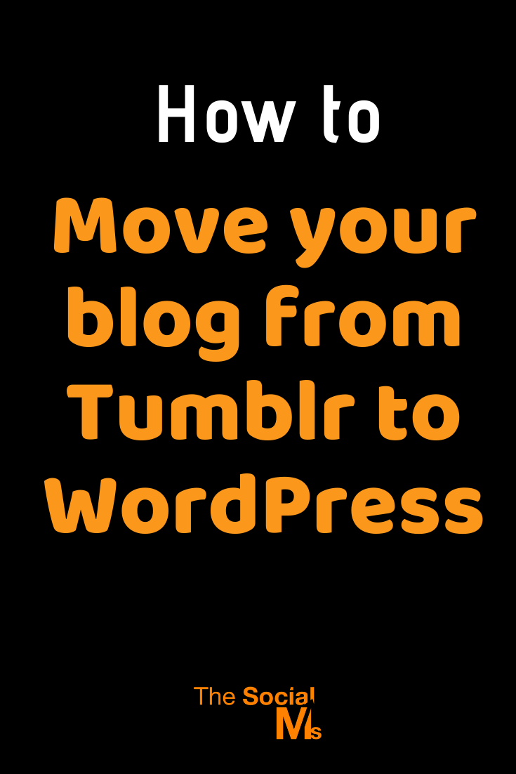 moving from Tumblr to WordPress is not that easy. But rest assured - with a little bit of a time investment, all problems can be solved. Let me show you the process I followed. #tumblr #wordpress #startablog #blogging101 #bloggingforbginners #bloggingtips