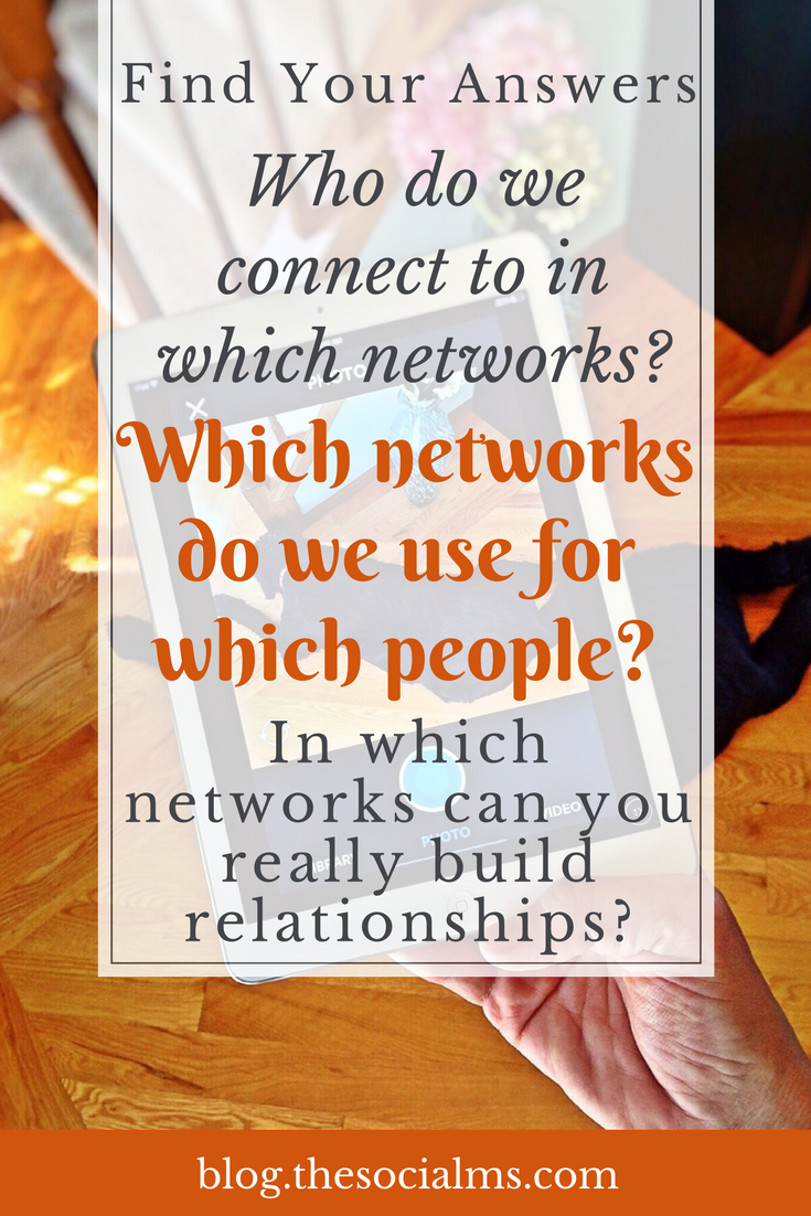 How We Build Relationships in social media and which social networks work best in which situation. social media networking, social media marketing, social media relationships, social media strategy