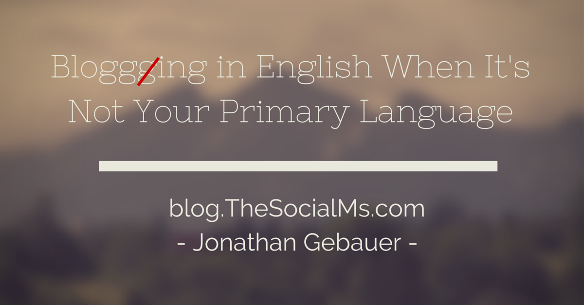 Blogging in English