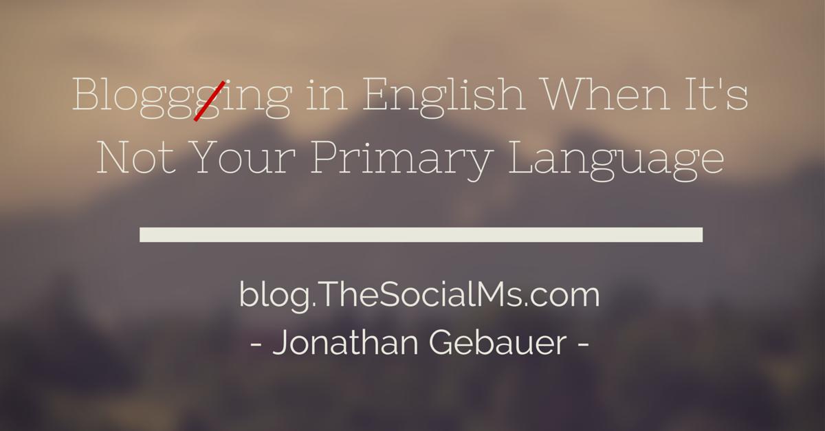 Blogging in English