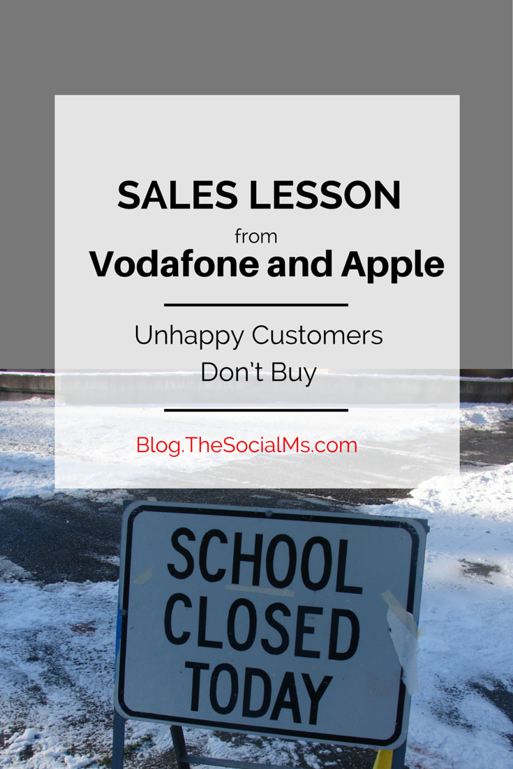 Learn your sales lessons: Make your customers happy before you try to sell to them.
