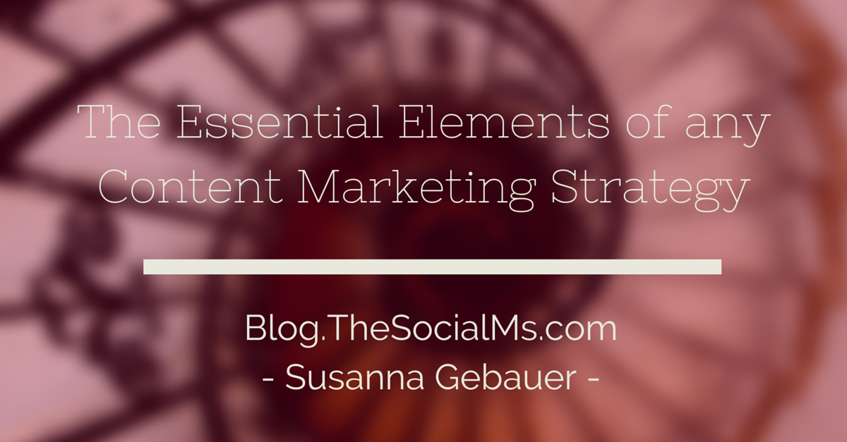 The 9 Essential Elements of any Content Marketing Strategy
