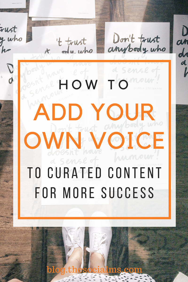 Great content curation is a challenge. If everything is already said, if all information is already presented, it gets hard to find your own voice and add value to give to your audience. Here is how to add your voice to curated content. #contentcuration #contentcreation #contentmarketing #onlinemarketing #digitalmarketing