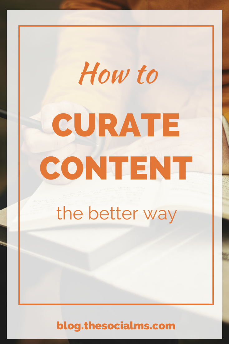 When you go for curated content, make sure you still have something to add of your own. Even if content curation sounds easy, it can be hard to find a new angle. #curatedcontent #contentcuration #contentcreation #contentmarketing #blogwriting #blogpostcreation