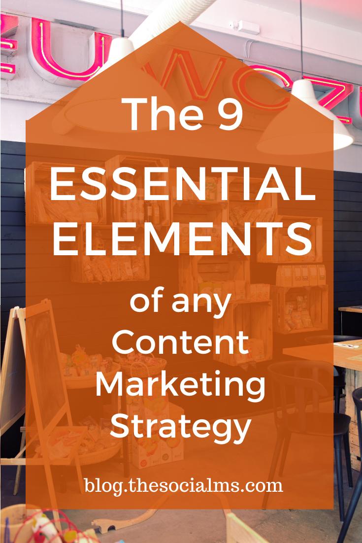 Here are 9 essential elements anycontent marketing strategy should include #contentmarketing #marketingstrategy #digitalmarketing #smallbusinessmarketing #startupmarketing