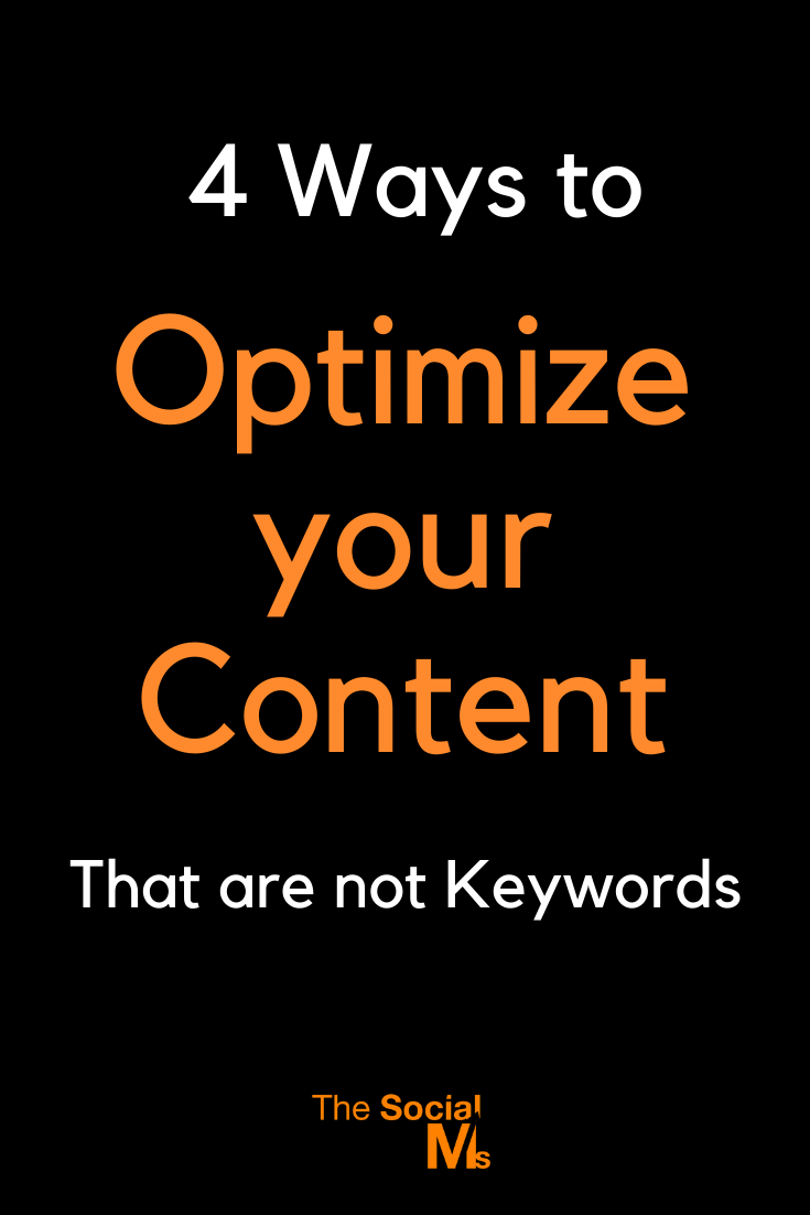 There is more to content optimization than adding keywords. Here are 9 ideas to help you create better content. #contentcreation #contentmarketing #blogcontentcration #blogpostwriting #bloggingtips #blogging101