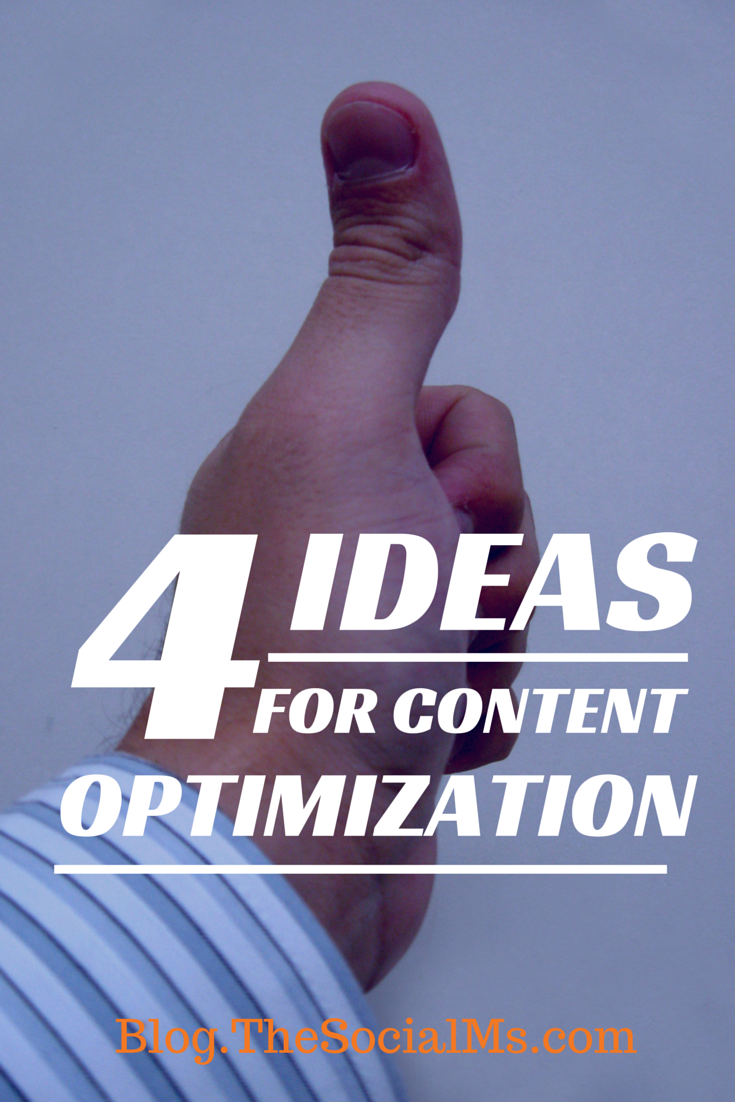 4 Ideas for Content Optimization Other Than Keywords. Think about your audience, optimization does not end with keywords! There is so much more than SEO in content marketing.
