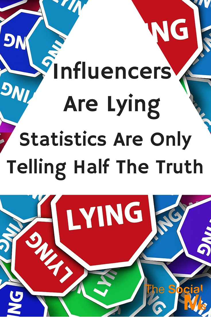 In Social Media: Influencers Are Lying: Statistics represent some kind of average. Without more data statistics can and should not be more than a first indicator for your social media strategy.