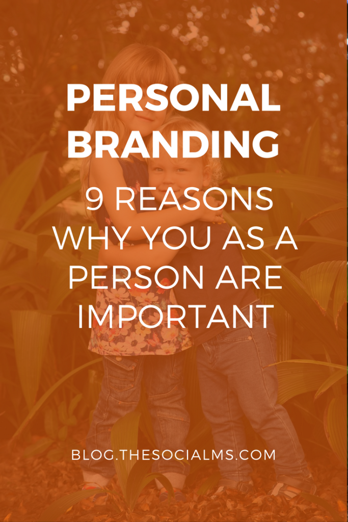 "Personal Branding: Instead of ""only"" branding a company, a product you should also brand yourself as a person."