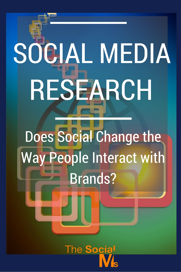 Hubspot social media research how Social Media changes the way people interact with brands. These changes seem rather insignificant.