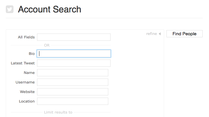 Manageflitter Search