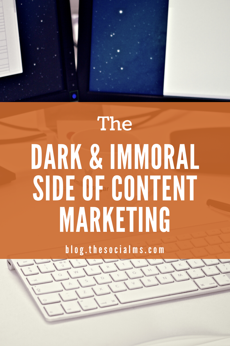 Content marketing has a dark side and sometimes is misused by shady marketing. Here is what you need to know about the dark side of content marketing. #contentmarketing #contentcreation #contentmarketingstrategy