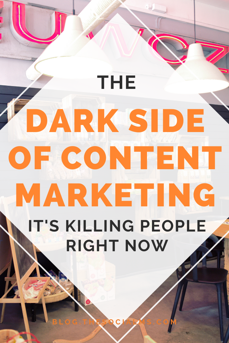there is a dark side to content marketing. A very dark side. Because sometimes content marketers are just lying bastards. And here is the story why that could be killing people right now. #contentmarketing #contentcreation #digitalmarketing #smallbusinessmarketing #marketingstrategy #smallbusinessmarketing