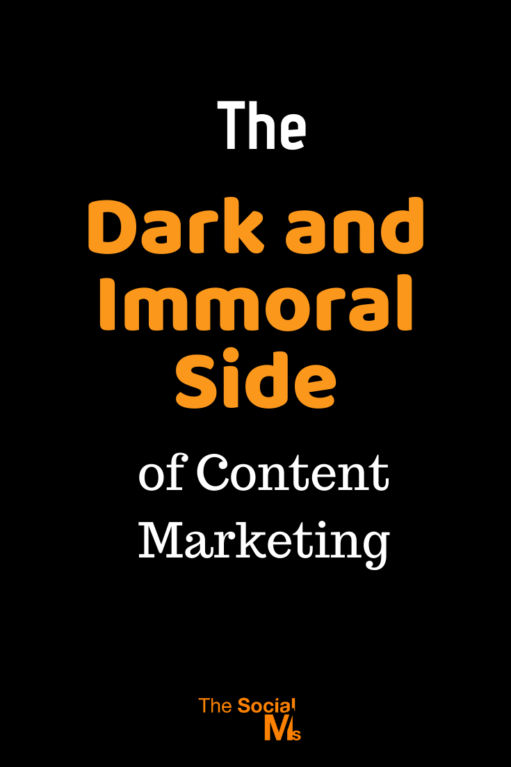 There is a dark side to content marketing and some content marketers are just lying bastards. Here is a story to open your eyes. #contentmarketing #contentmarketingstrategy #contentcration