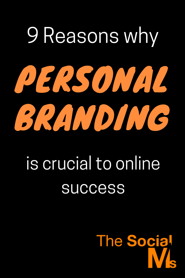 Personal branding is not only important for personal advancement, it also helps to advance your product/service-brand in multiple ways.  Here are 9 reasons why a personal branding strategy is important #branding #onlinebusiness #personalbranding #solopreneur #entrepreneurship #startupmarketing #bloggingbusiness #bloggingtips