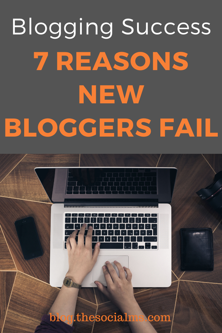 Blogging success is about so much more than writing. Failing to see what blogging is about will lead to blogging failure. Here is why bloggers fail. #bloggingtips #bloggingmistakes #bloggingforbginners #startablog