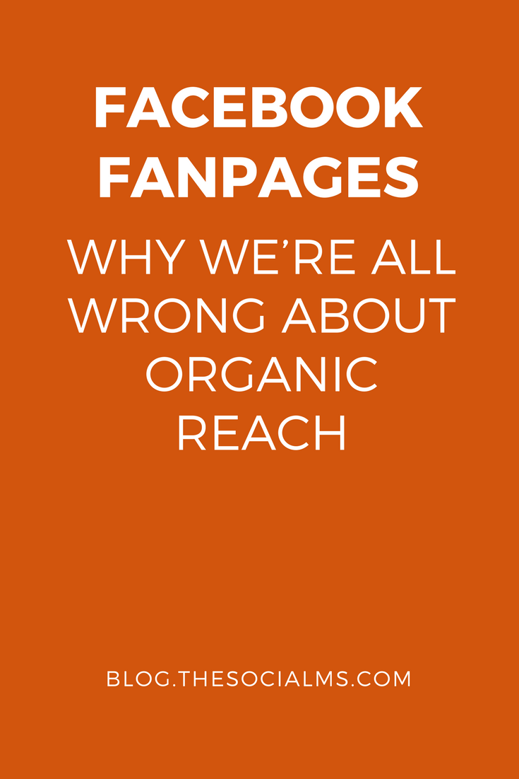 When we are complaining about declining organic reach on Facebook Fanpages we misunderstand the concept of organic reach. facebook marketing