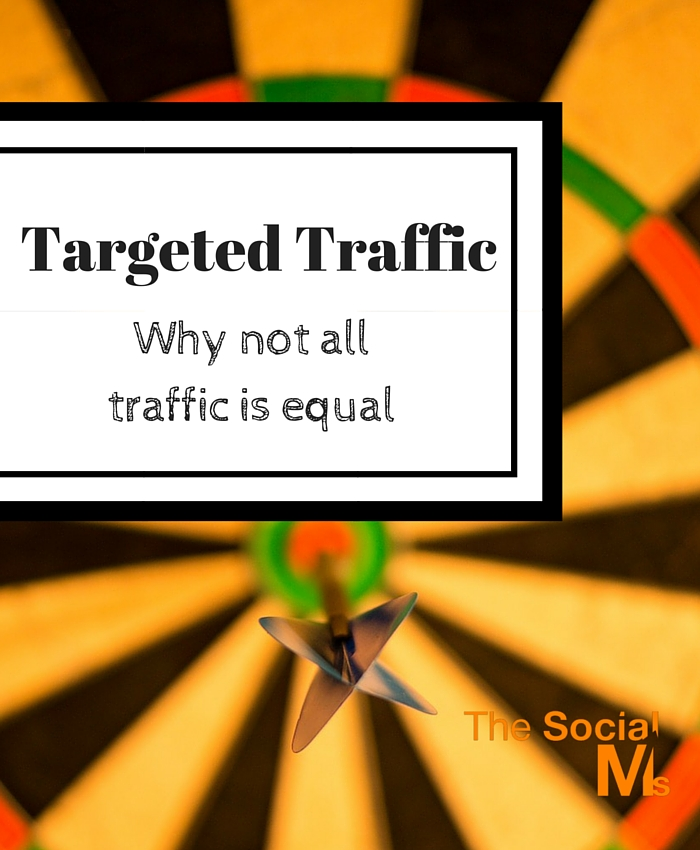 Not all traffic is equal. Just going for traffic therefore can be very short sighted. You need to get targeted traffic.