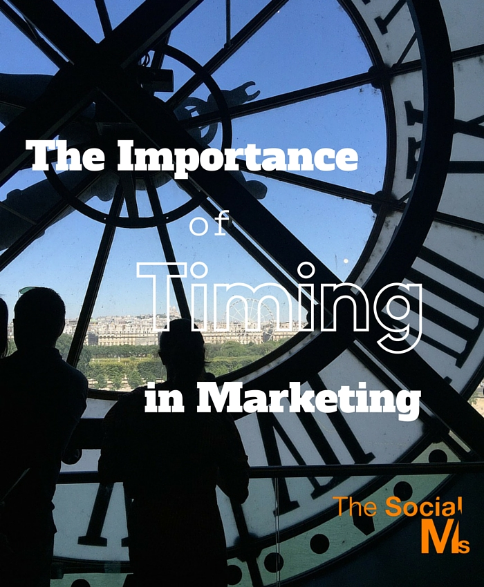 In marketing the right timing is crucial. If a marketing path does not allow for optimizing the timing, it might not be as beneficial as it seemed.