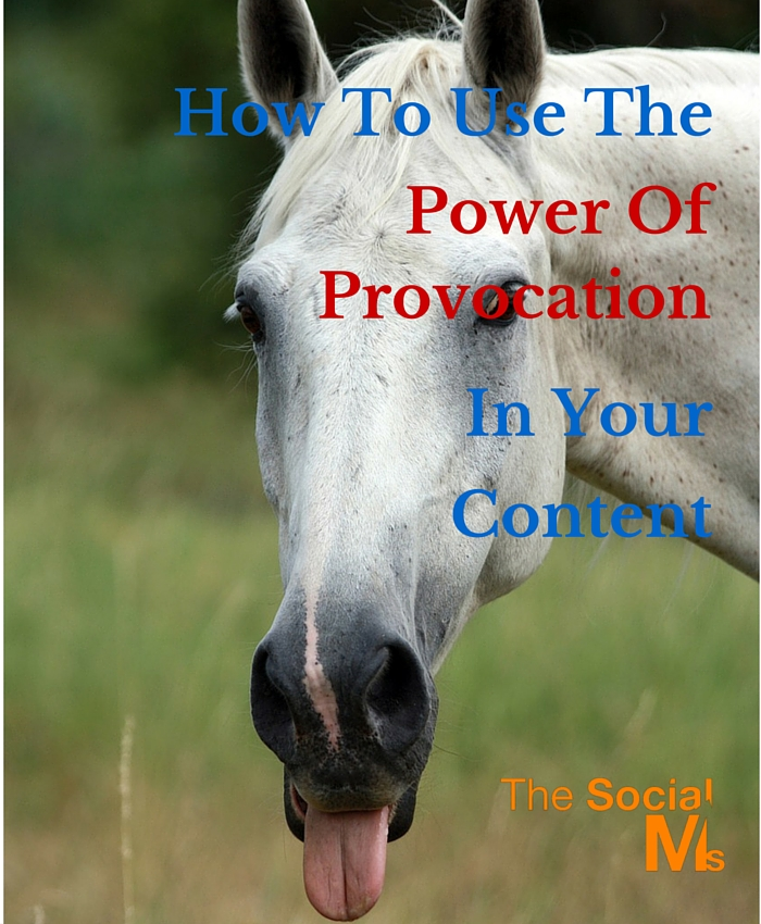Provocation has the power to give a new angle to old stories, open up the conversation and helps you to connect to your audience.