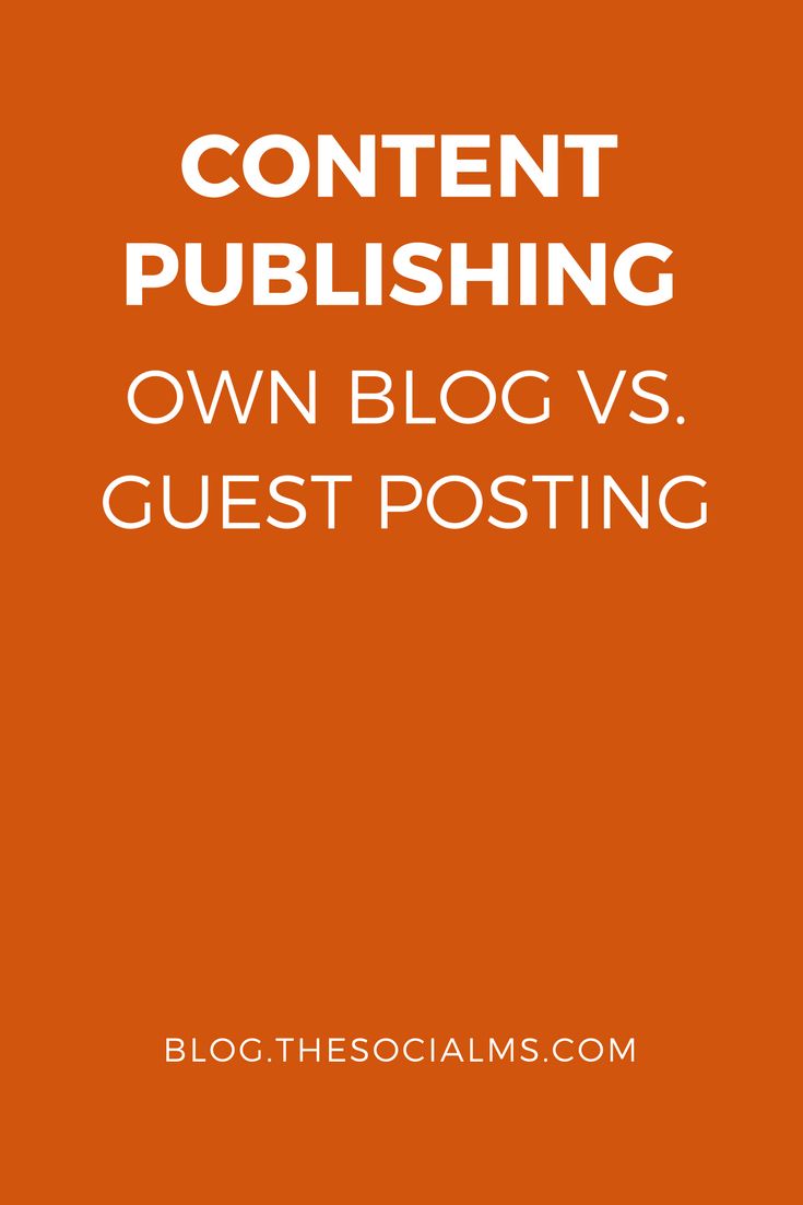 If you are going for content publishing to spread the word about your project, you have to decide whether to publish on your own blog or somewhere else.