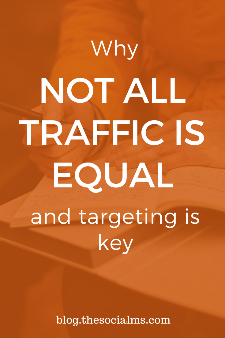 Going for traffic can be very short sighted. You need to get targeted traffic. #blogtraffic #trafficgeneration #targeting #bloggingtips #blogging101 #bloggingforbeginners #startablog