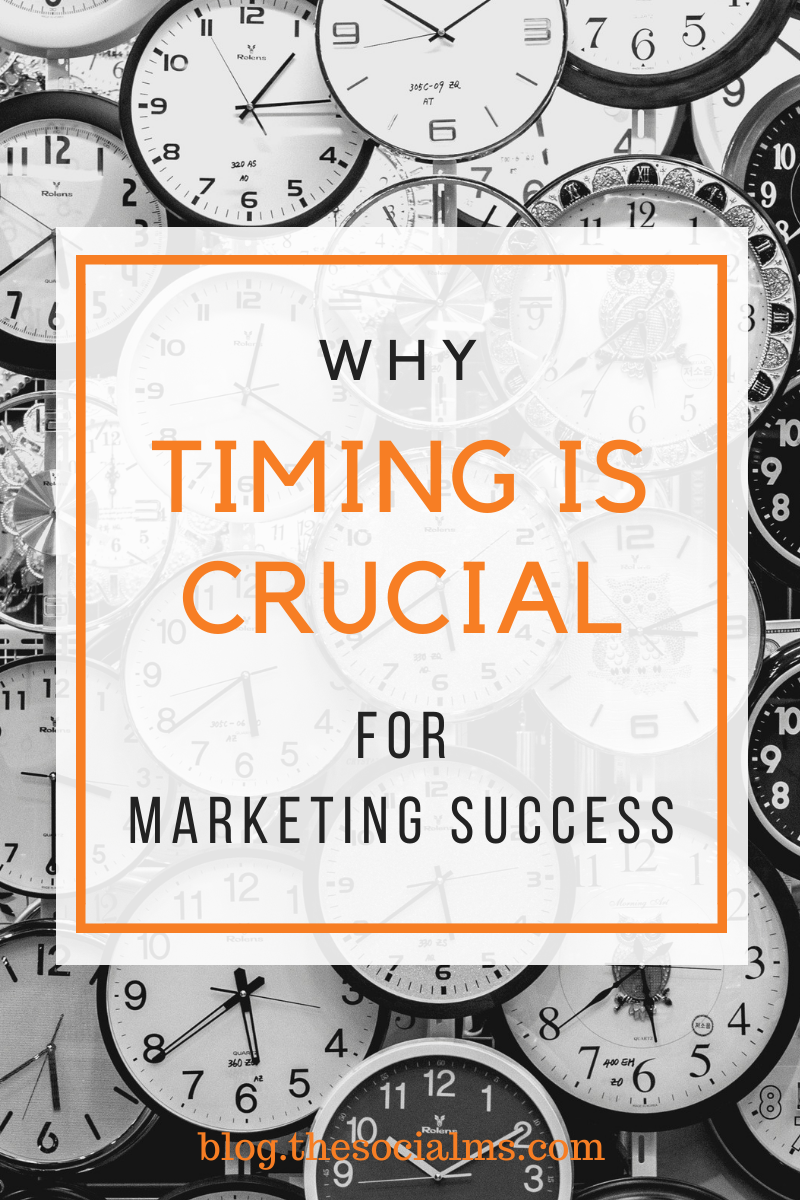 In marketing the right timing is more than crucial. Sometimes a marketing path cannot bring marketing success, if it does not allow for to opimize the timing. #onlinemarketing #marketingstrategy #digitalmarketing #smallbusinessmarketing #startupmarketing #onlinebusiness