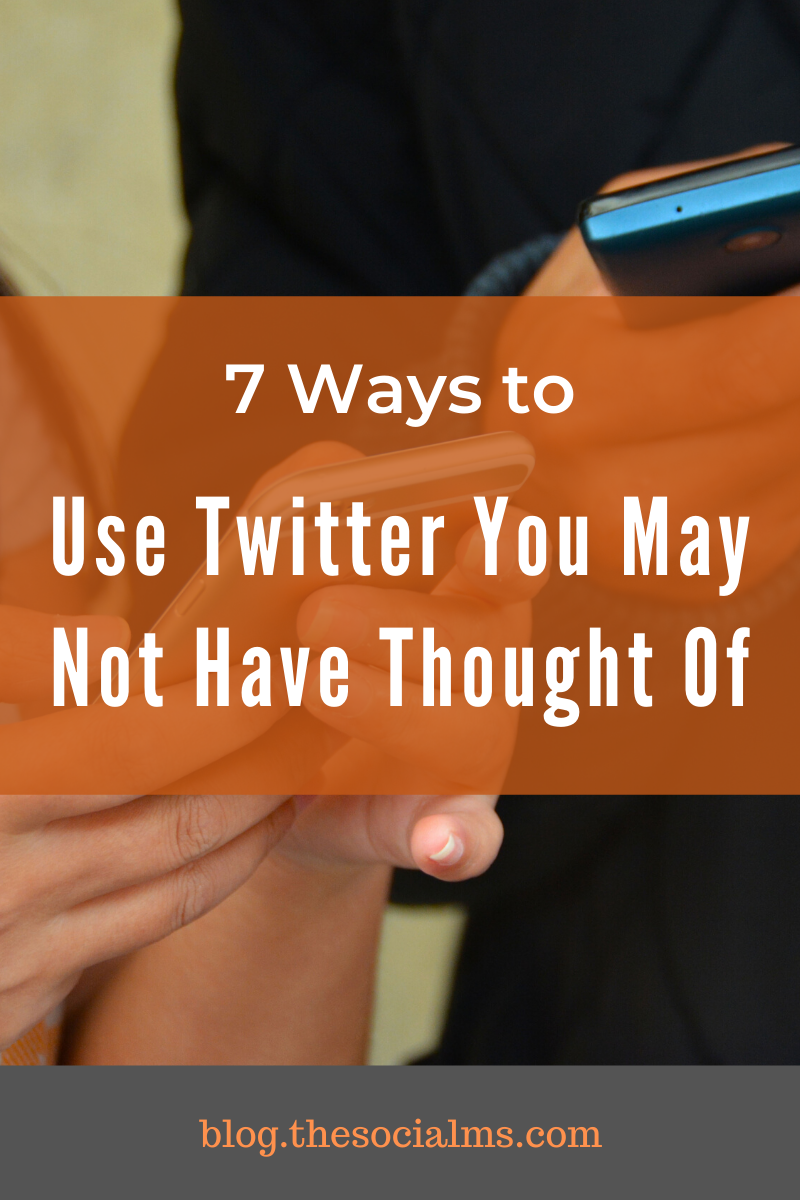 Here are some ideas on how to use Twitter that are not the very ordinary. I hope there are some ideas new to you, which you will find interesting. #twitter #twittertips #twittermarketing #socialmedia #socialmediatips #socialmediamarketing