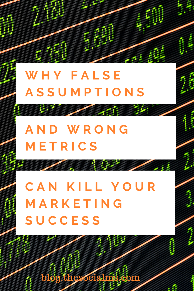 A very common mistake is to measure marketing success with a number that does not really tell if you are successful in reaching your goals. Here is what will happen if you watch the wrong marketing metrics. #blogmetrics #marketingmetrics #bloganalytics #monitoring