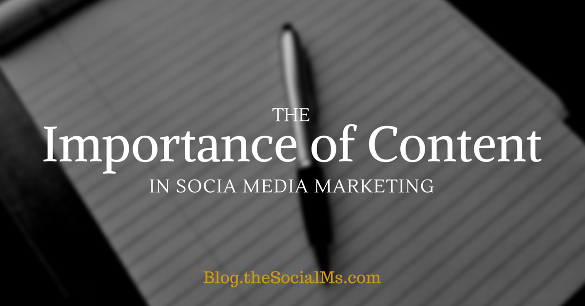 The Importance of Content in Social Media Marketing