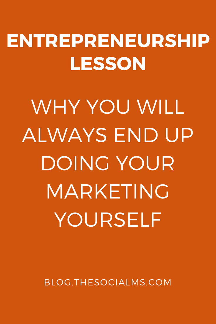 Marketing lesson: Every young company needs marketing. Marketing is not a problem that is somehow going to dissolve into thin air. startup advice, marketing tips