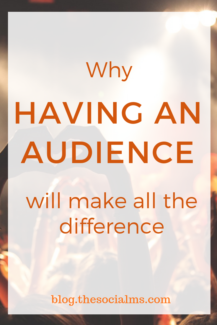 An audience is not a magic bullet. Many things can still go wrong, even if you are building or already have an audience. But not having an audience is a sure way to failure. #audiencebuilding #smallbusinessmarketing #onlinebusiness