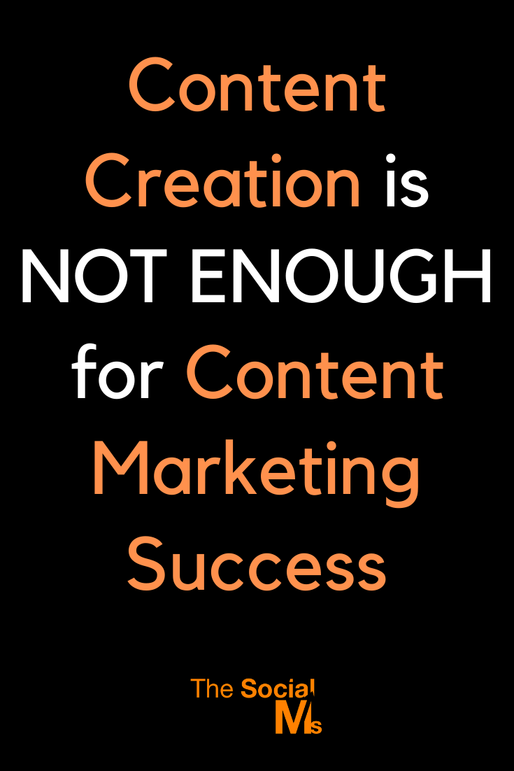 """Content marketing does in no way stop with the creation of content. The """"art"""" of content marketing also includes a lot mor than content creation. If you are looking for content marketing success you have to get all of this right. #contentmarketing #contentcreation #digitalmarketing #marketingstrategy #onlinemarketing #bloggingtips"""