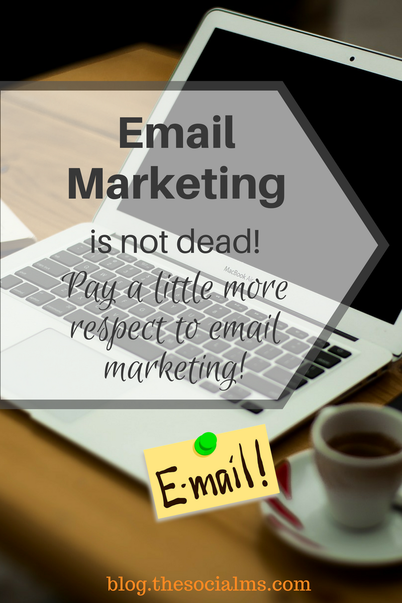 Email marketing is a great tool in marketing and not dead at all. It offers the unique opportunity to establish a connection with your audience. email list, newsletter, email subscriber