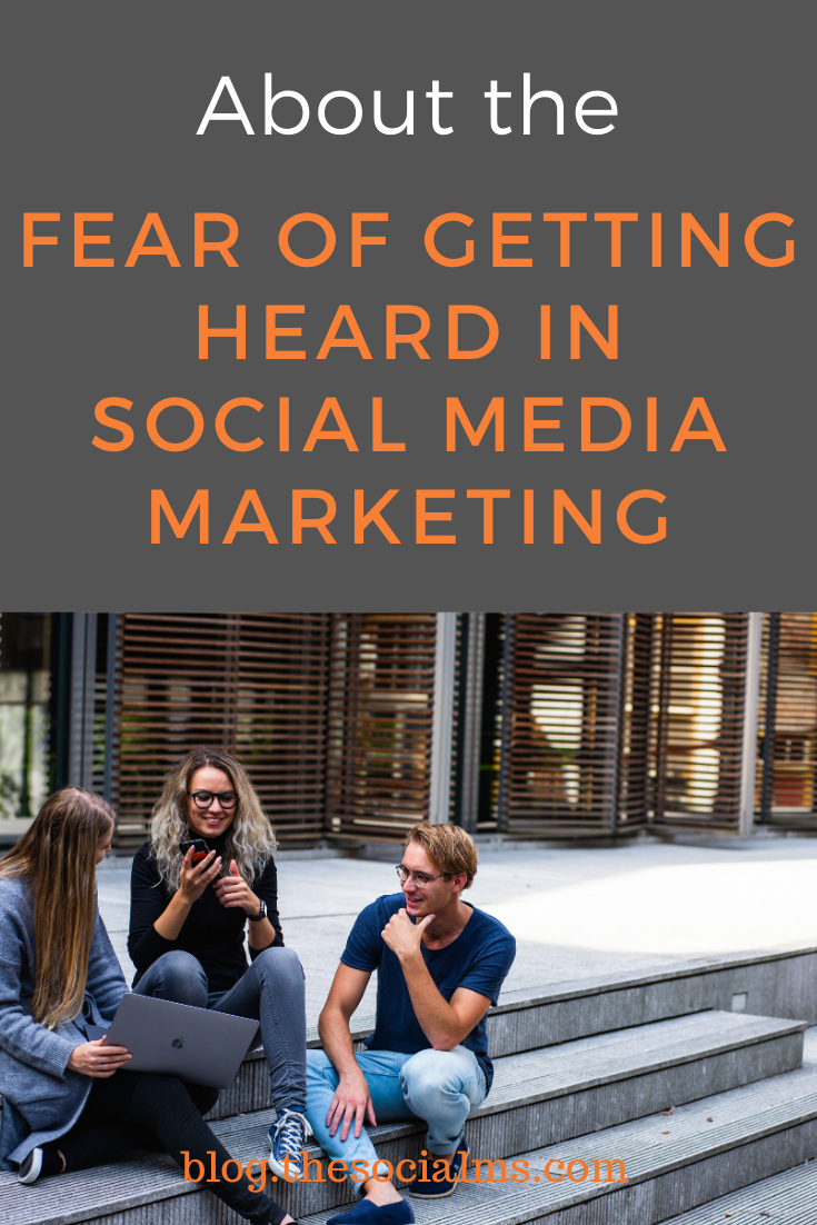 To fear getting heard and trying to succeed with social media marketing cannot go together. You have to learn to cope with your fears and start getting yourself out there for social media marketing success. Here is how to cope with your fear if getting heard in social media marketing. #socialmedia #socialmediatips #socialmediamarketing #digitalmarketing #smallbusinessmarketing #startupmarketing #onlinebusiness #onlinemarketing #marketingstrategy