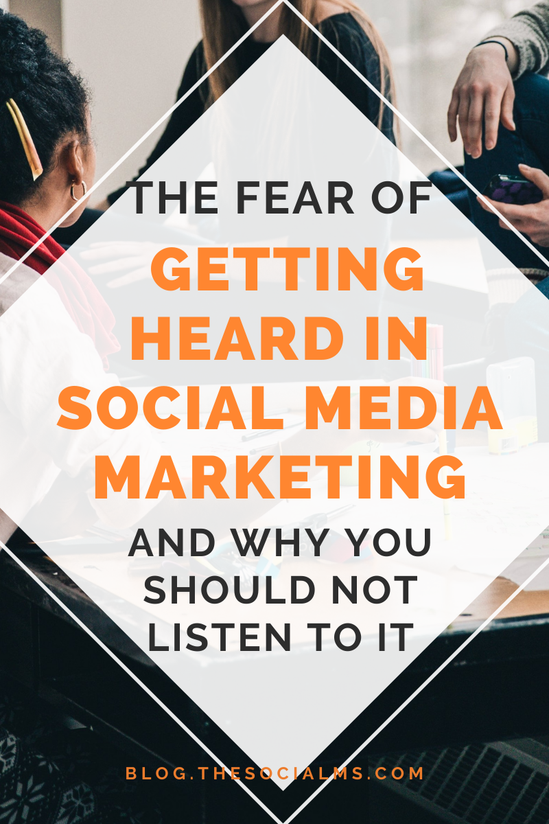 Don't be afraid of getting heard on social media because there is a far worse problem: Not getting heard at all. Here is how to deal with your fear and become  comfortable with posting on social media #smallbusinessmarketing #digitalmarketing #socialmediamarketing #startupmarketing #socialmediatips #socialmedia