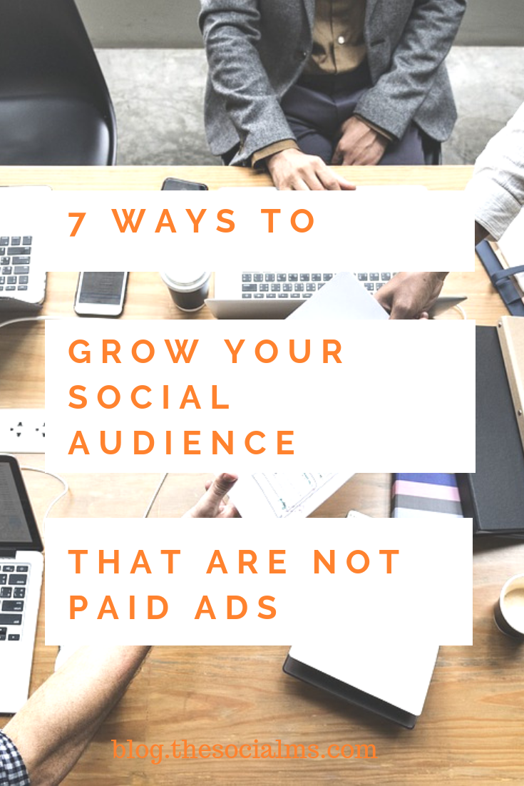 Sometimes it seems as if social media marketing without advertising is impossible. That is not true. You can grow your social media accounts without paying for it. Here are 7 ideas to grow your social accounts without advertising #socialmedia #socialmediamarketing #socialmediatips