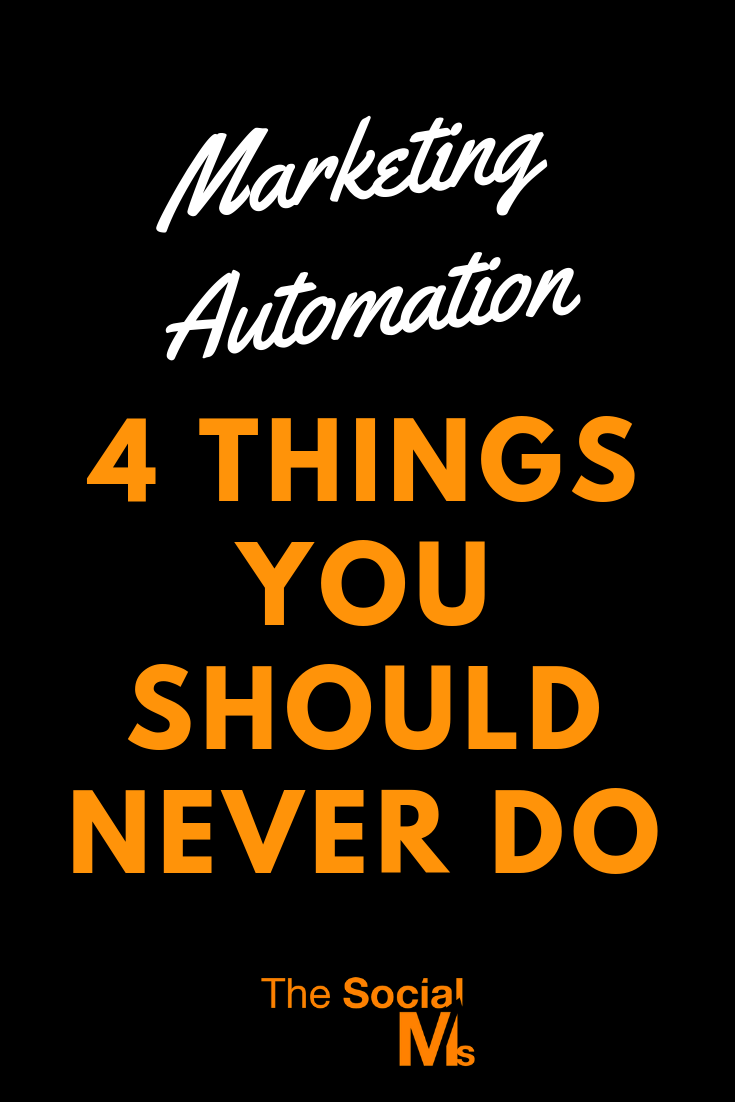 Blindly starting with marketing automation for your accounts without knowing what exactly is going on will not help you. It will most likely hurt your marketing success. To use tools and automation just because you can and because they will help you save some time is dangerous. Here are 4 things you should never automate #marketingautomation #socialmediaautomation #socialmediamarketing
