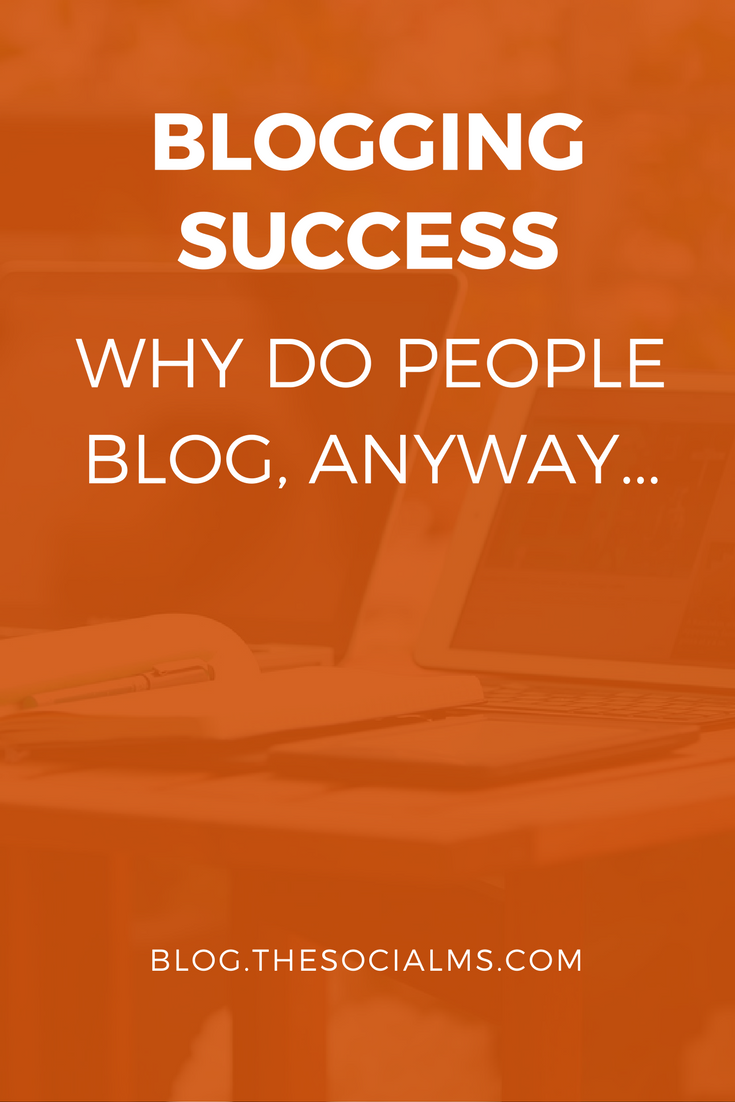 Why do people blog? What is blogging? Is it for money or marketing? Ok, you got it, people blog for a reason... Here is the post that gives you the answers.