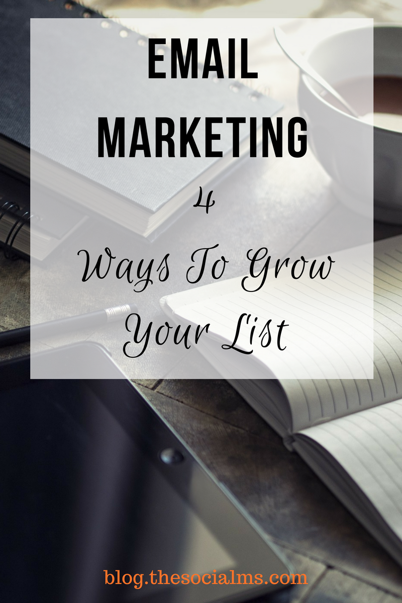 Growing a list for your email marketing is not rocket science. There are methods everybody can use to build an email list for marketing purposes. #emailmarketing #listbuilding #salesfunnel